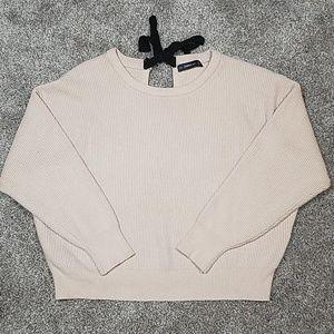 Zara Oversized Blush Knit Sweater Back Tie